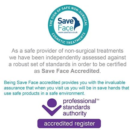 accredited by SaveFace